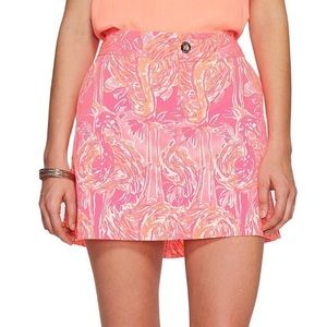 Lily Pulitzer Nicki Skort Tiki Pink Size 14